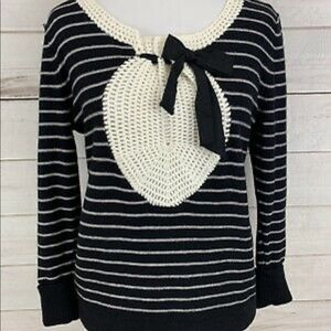 Field flower (Anthropologie) sweater with bow